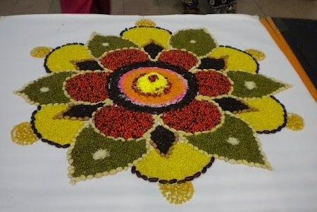 Rangoli with lentils
