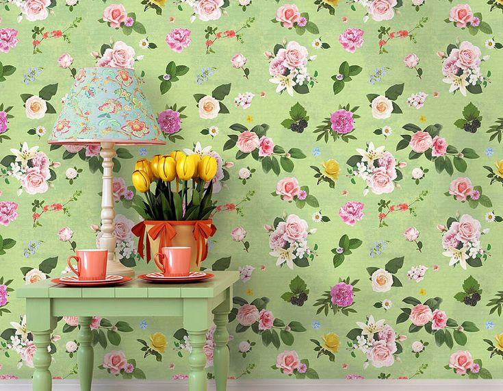 Best 25+ Green floral wallpaper ideas on Pinterest | Green ...