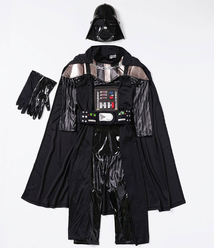 Fantasia infantil  Gola redonda  Com máscara  Com capa  Com luvas  Personagem Darth Vader  Marca: Star Wars  Tecido: helanca  Composição: 100% poliéster      Veja outras opções de    conjuntos infantis.
