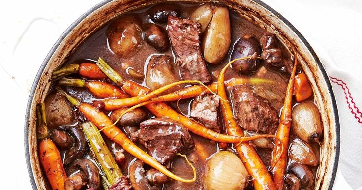 It's easy to create the hearty French classic, Boeuf Bourguignon, with this delicious slow-cooker recipe.