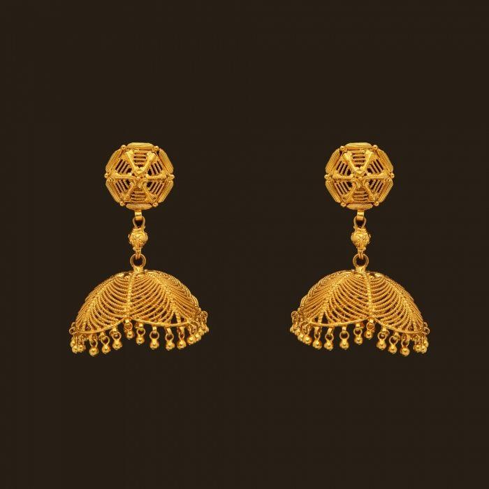 Gold Earrings (108A19039) | Vummidi Bangaru Jewellers
