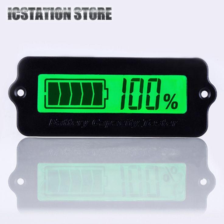 LY6W Indikator Kapasitas Baterai Tester Untuk 12 V Memimpin Asam Baterai 8-63 V Lampu Hijau LCD Display Daya modul