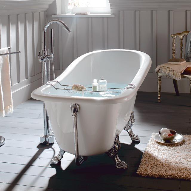 Les 25 meilleures id es de la cat gorie baignoire sur pied for Salle de bain avec baignoire sur pied