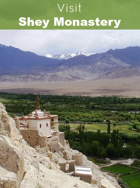 She monastery is famous for its giant gold statue of a seated Shakyamuni Buddha. It is said to be the second largest such statue in Ladakh. From the top is amazing view of two vallyes. More: http://www.pathismygoal.com/shey-monastery-and-panoramic-view-of-the-surroundings/