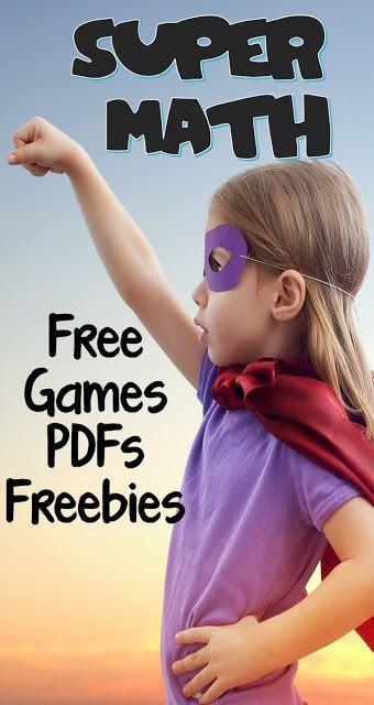 SUPER Math! Free Games PDF's Freebies