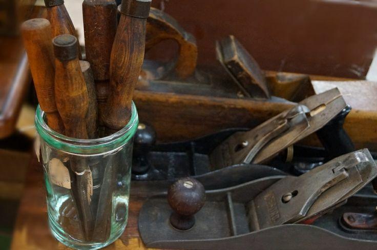 Vintage hand tools #plane #chisel. Sold by Vintage Design Shop in Melbourne (www.facebook.com/VintageDesignShop)