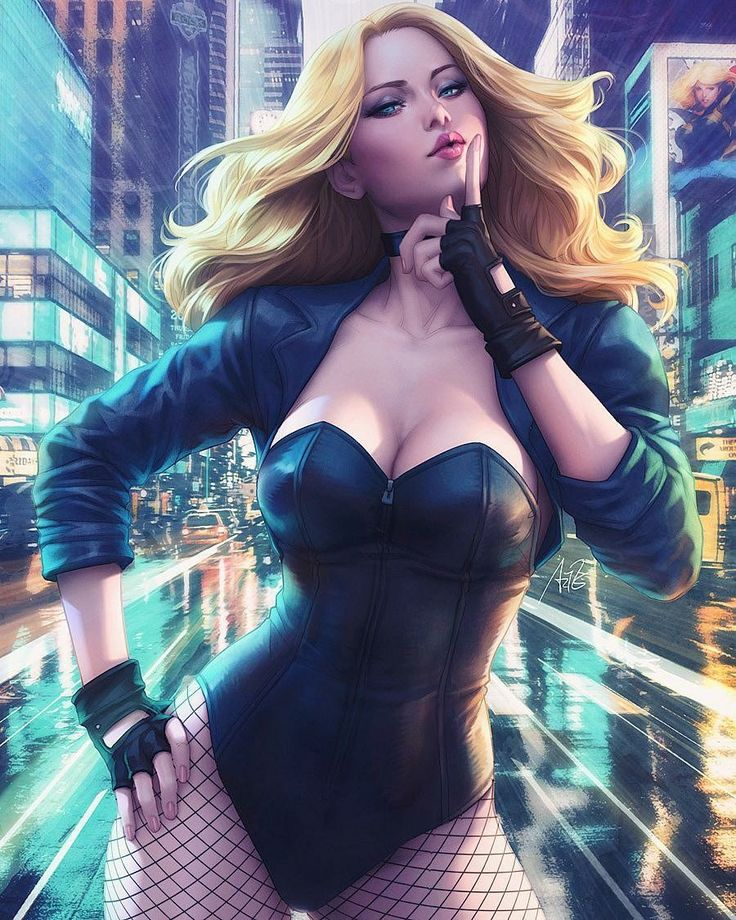 Black Canary, painstakingly illustrated.