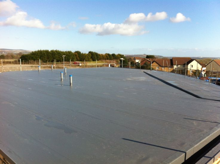 Single ply roofing system installed by Pellow Flat Roofing to Flying start Nursery Plymouth http://www.flatroofscornwall.com/flat-roofing-services/single-ply-roofing