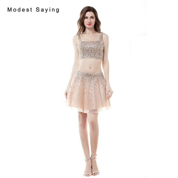 Find More Cocktail Dresses Information about Sexy Champagne A line Beaded Crop Top Short Cocktail Dresses 2017 with Rhinestone Mini Homecoming Prom Gowns vestidos de coctel,High Quality short cocktail dress,China cocktail dresses Suppliers, Cheap short cocktails from modest saying Lacebridal Store on Aliexpress.com