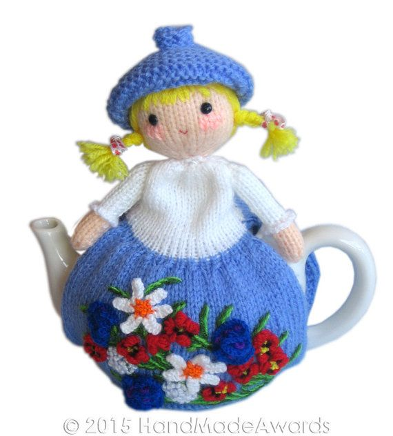 Spring Tea Cosy PDF Email Knit PATTERN by HandMadeAwards on Etsy ♡