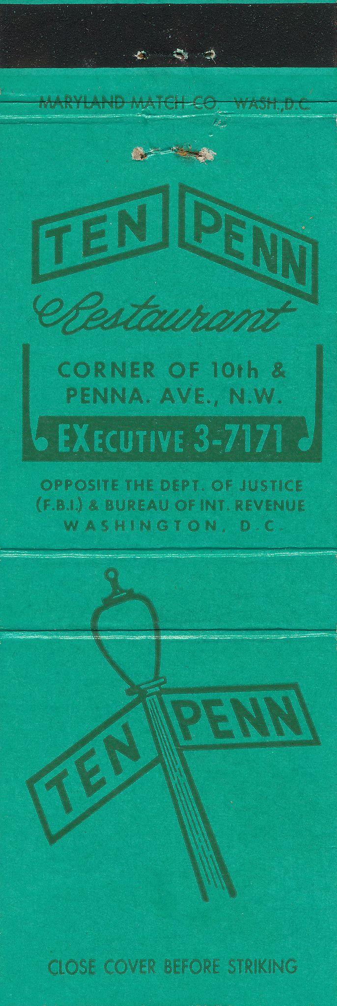 136 best Historic Washington DC matchbook covers images on Pinterest
