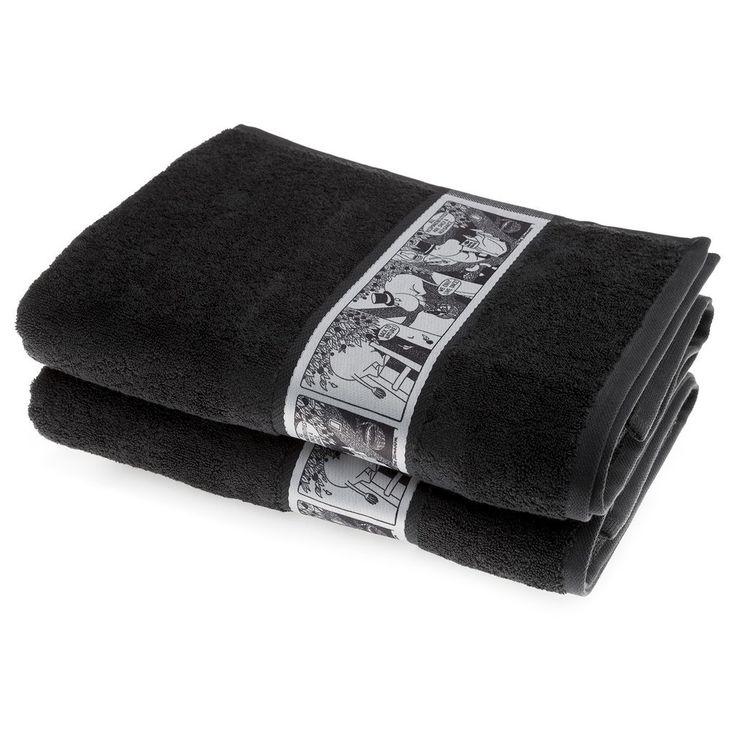 The new dark greybath towel by Finlayson presents a stylishcomic…