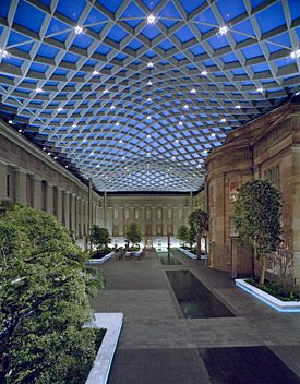 """Enjoy free, live jazz at the Smithsonian American Art Museum's """"Take Five!"""" performance series. It usually takes place on the third Thursday of each month, and the museum's café stays open so guests can enjoy beer, wine and light snacks during the performance. Washington, DC."""