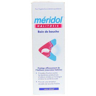MERIDOL – Bain de bouche HALITOSIS: Le bain de bouche méridol HALITOSIS est prêt à l'emploi, sans chlorhexidine et sans alcool, à utiliser…