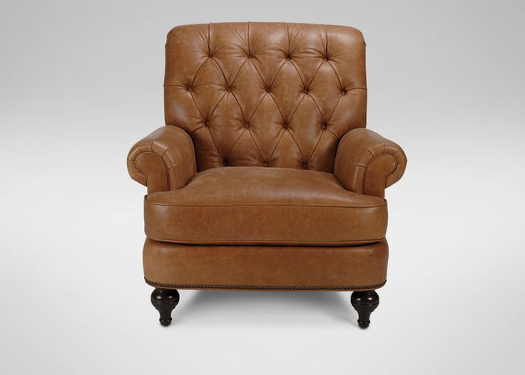 Buy Ethan Allens Shawe Leather Chair Or Browse Other Products In Chairs Chaises