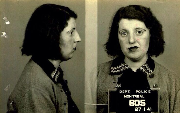 Mug shots of Montreal prostitutes from 1940s - Imgur