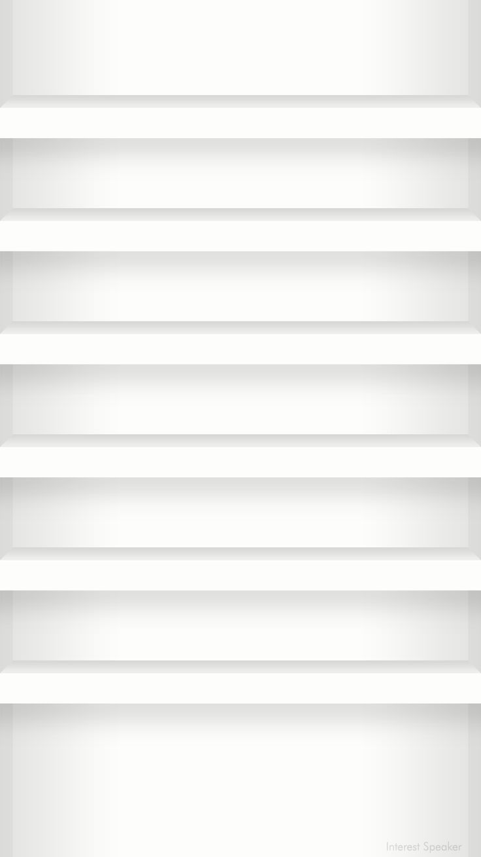 iPhone6_home_wallpaper-shelf-white.png 750×1,334 pixels