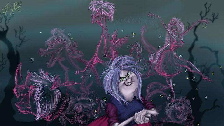 Madam Mim Transformation by MattesWorks Sword in the Stone Walt Disney movie animation enchanting Merlin story.