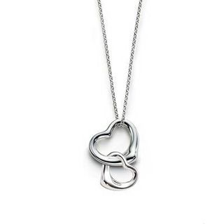 Tiffany & Co Double Open Heart Necklace - $69.85 : Tiffany Outlet Online