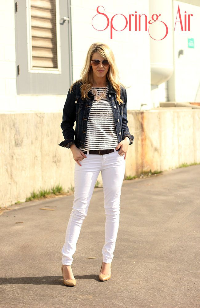 69 best White Jeans Outfits images on Pinterest | White jeans ...