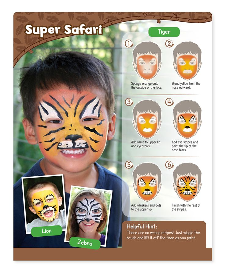 6-Steps to a Super Safari Tiger Face *ROAR