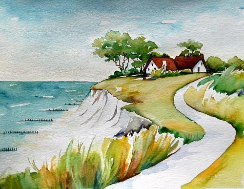 """Meltem Kilic, """"An der Ostsee"""" / 2010  Mit einem Klick auf 'Als Kunstkarte versenden' versenden Sie kostenlos dieses Werk Ihren Freunden und Bekannten."""