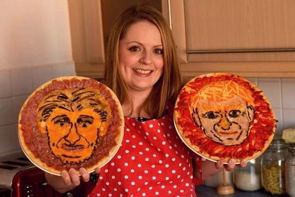 Food artist creates Manuel Pellegrini and David Moyes pizzas