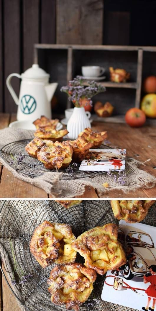 A road trip snack for travellers with a sweet tooth: French Toast Apple Pie Bites. They are easy to make and are full of great flavour. Together with Volkswagen I am providing you with the recipe for this crunchy and sweet snack. But be careful: they are addictive! Find more recipes on the Volkswagen Pinterest Board.  https://de.pinterest.com/volkswagen/food-bloggers-for-volkswagen