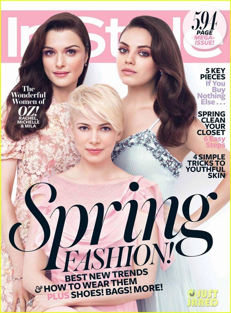Rachel Weisz, Michelle Williams & Mila Kunis cover 'InStyle' March 2013