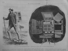 1869 MI29/5APPAREIL PHOTOGRAPHIQUE AMERICAIN LABORATOIRE VOYAGE EMPLOI COLLODION