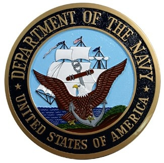 US Department of the Navy seal plaque
