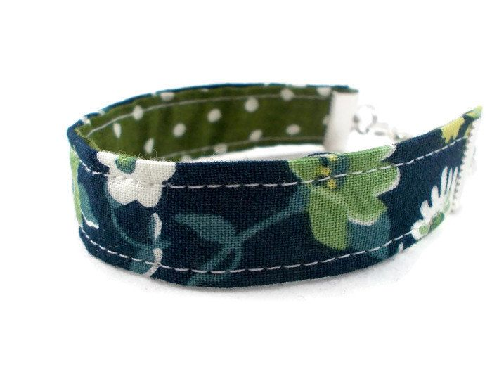 Blue & Green Fabric Bracelet, Jewelry for Tween Girls, Tween Girl Gifts, Stocking Stuffers for Teenage Girls, Tween Jewelry, Cute Bracelets by foreverandrea on Etsy