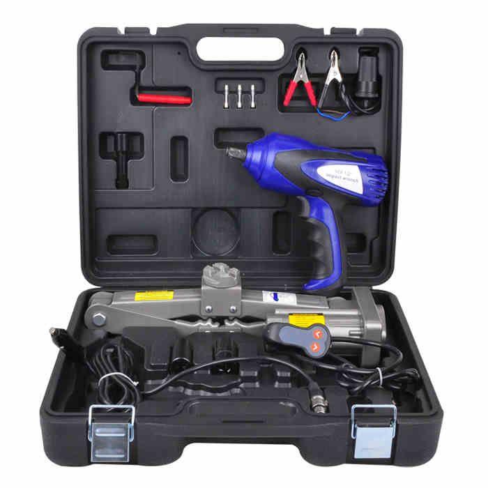 12v electric car jack wrench trainborn horizontal tool special for sedan car elevator car lifter
