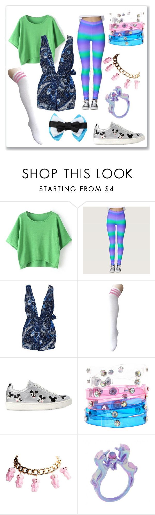 """Wacky tacky day #1~"" by kitty-style101 ❤ liked on Polyvore featuring WithChic, MOA Master of Arts and Disney"
