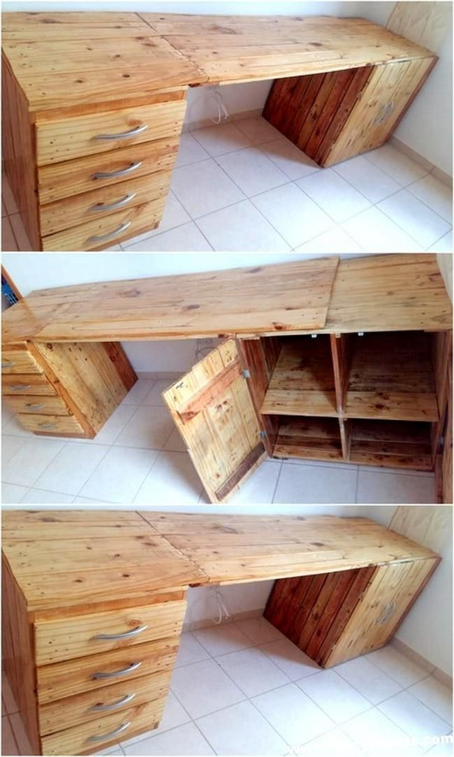Inexpensive Diy Wooden Pallets Bench With Side Table Wood Pallet Furniture Wood Furniture Design Wooden Pallet Crafts