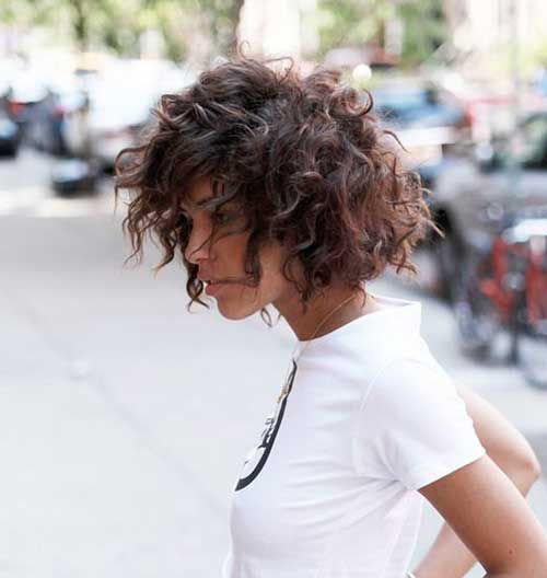 Image result for short curly hair
