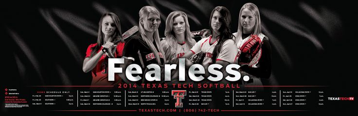 Texas Tech Softball Poster (2014)