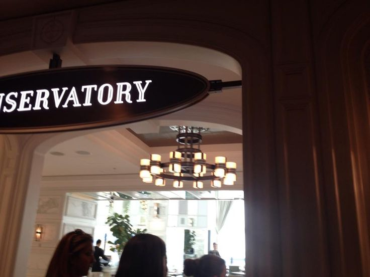 (CHOSEN RESTAURANT) This image shows the entrance of the Conservatory at the Crown. The signage is at a localised scale to make the entrance more inviting. The entrance is wide and spacious and shows people what the restaurant has to offer.