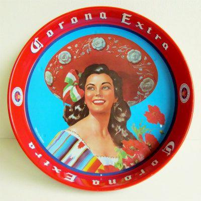 コロナビールのスチールトレイ - メキシコ直輸入 輸入雑貨メキシコ屋