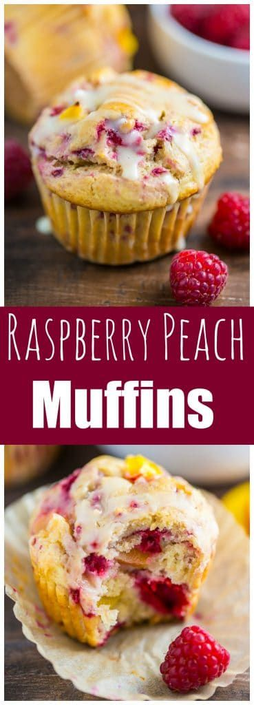Moist and flavorful Raspberry Peach Muffins!!!