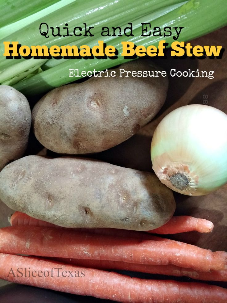 Homemade Beef Stew. So easy and delicious!