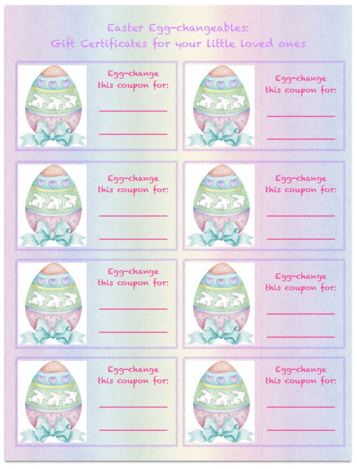 25 parasta ideaa pinterestiss pre filled easter baskets free printable easter gift certificates for kids negle Gallery