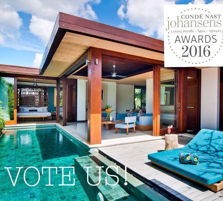 Vote Maca Villas & Spa Bali.. Select BEST FOR ROMANCE and BEST LUXURY VILLAS..   http://www.johansens.com/awards?property=Maca%20Villas%20&%20Spa%20Bali&Id=25578