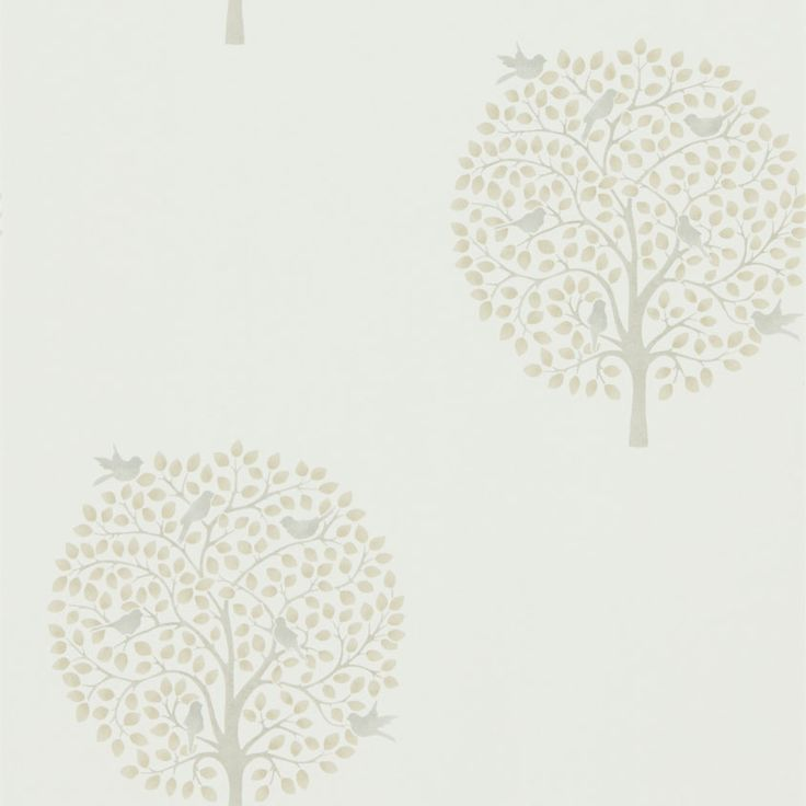 Sanderson Bay Tree Linen / Dove Wallpaper main image