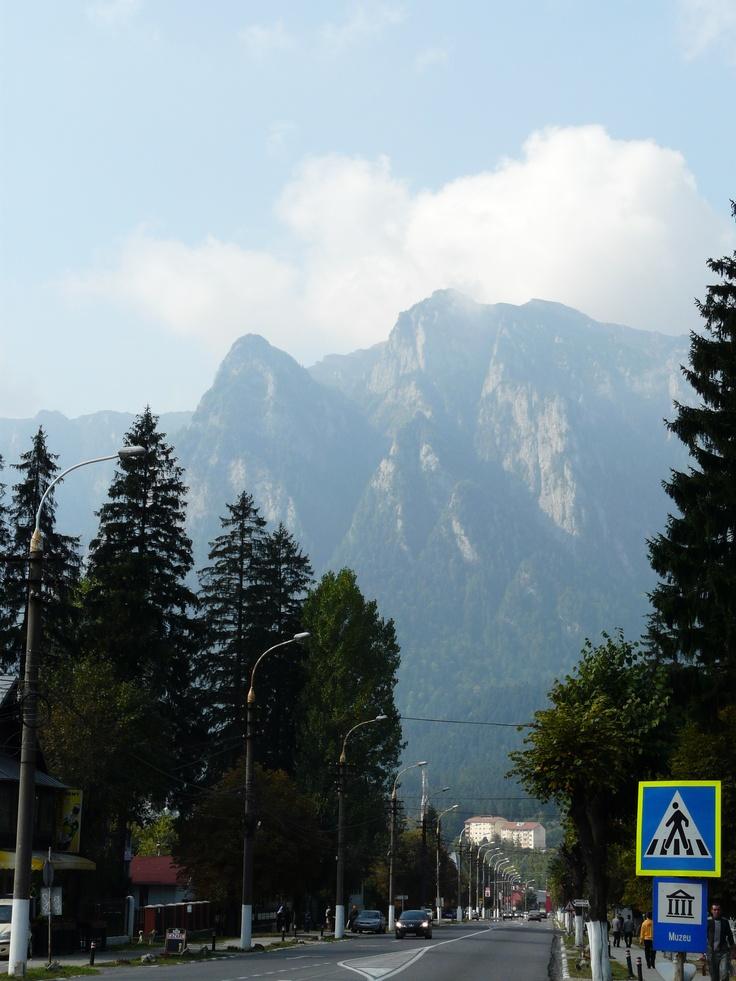 The Carpathians aka the Transylvanian Alps.