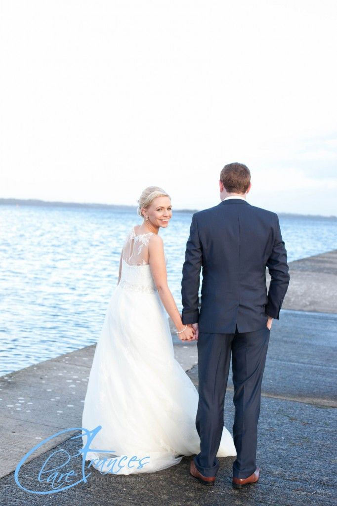 Marie and Paul's wedding at Hodson Bay by Clare Frances Photography
