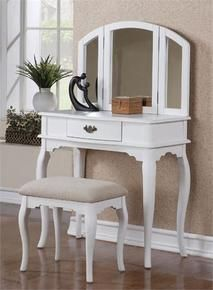 White Makeup Dressing Table