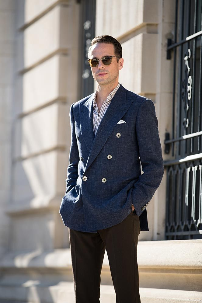 Travel blazer in casual British elegance by Chester Barrie & The Rake