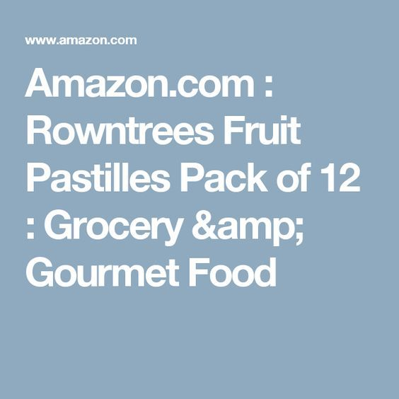 Amazon.com : Rowntrees Fruit Pastilles Pack of 12 : Grocery & Gourmet Food