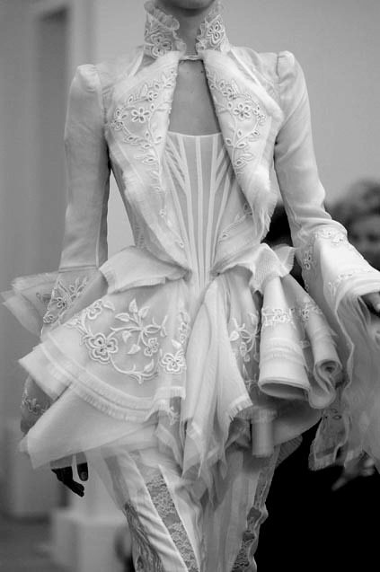 Victorian inspired fashion. . . I think that it would be adorable as a dress instead of having the pants.